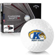 Callaway Golf Chrome Soft X Triple Track Kent State Golden Flashes Golf Balls