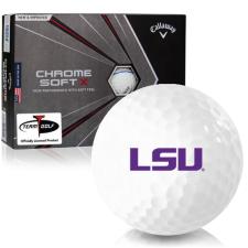 Callaway Golf Chrome Soft X Triple Track LSU Tigers Golf Balls