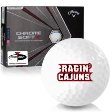Callaway Golf Chrome Soft X Triple Track Louisiana Ragin' Cajuns Golf Balls