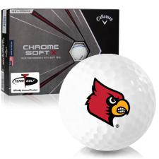 Callaway Golf Chrome Soft X Triple Track Louisville Cardinals Golf Balls