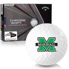Callaway Golf Chrome Soft X Triple Track Marshall Thundering Herd Golf Balls