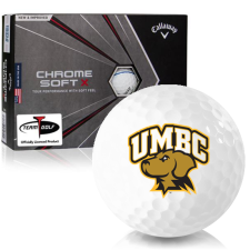 Callaway Golf Chrome Soft X Triple Track Maryland Baltimore County Retrievers Golf Balls