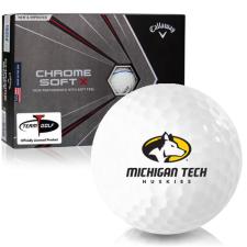 Callaway Golf Chrome Soft X Triple Track Michigan Tech Huskies Golf Balls