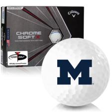 Callaway Golf Chrome Soft X Triple Track Michigan Wolverines Golf Balls