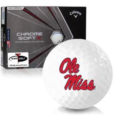Callaway Golf Chrome Soft X Triple Track Ole Miss Rebels Golf Balls
