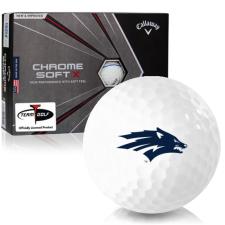 Callaway Golf Chrome Soft X Triple Track Nevada Wolfpack Golf Balls