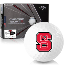 Callaway Golf Chrome Soft X Triple Track North Carolina State Wolfpack Golf Balls