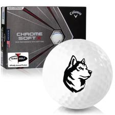 Callaway Golf Chrome Soft X Triple Track Northeastern Huskies Golf Balls