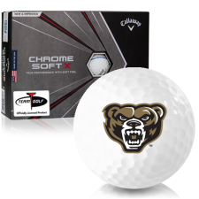Callaway Golf Chrome Soft X Triple Track Oakland Golden Grizzlies Golf Balls