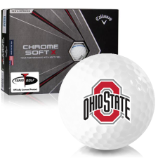 Callaway Golf Chrome Soft X Triple Track Ohio State Buckeyes Golf Balls
