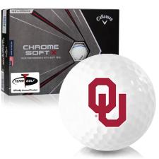 Callaway Golf Chrome Soft X Triple Track Oklahoma Sooners Golf Balls