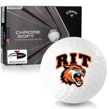 Callaway Golf Chrome Soft X Triple Track RIT - Rochester Institute of Technology Tigers Golf Balls
