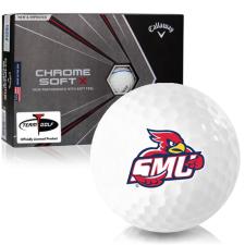 Callaway Golf Chrome Soft X Triple Track Saint Mary's of Minnesota Cardinals Golf Balls