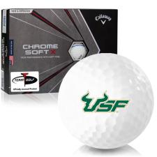Callaway Golf Chrome Soft X Triple Track South Florida Bulls Golf Balls