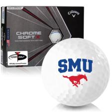 Callaway Golf Chrome Soft X Triple Track SMU Mustangs Golf Balls
