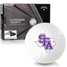 Callaway Golf Chrome Soft X Triple Track Stephen F. Austin Lumberjacks Golf Balls