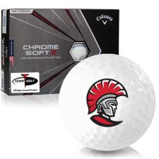 Callaway Golf Chrome Soft X Triple Track Tampa Spartans Golf Balls
