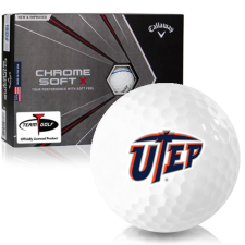 Callaway Golf Chrome Soft X Triple Track Texas El Paso Miners Golf Balls