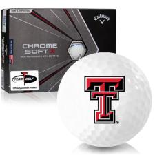Callaway Golf Chrome Soft X Triple Track Texas Tech Red Raiders Golf Balls