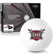 Callaway Golf Chrome Soft X Triple Track Troy Trojans Golf Balls