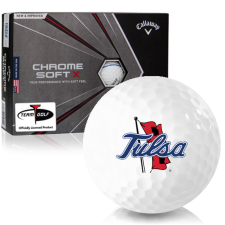 Callaway Golf Chrome Soft X Triple Track Tulsa Golden Hurricane Golf Balls