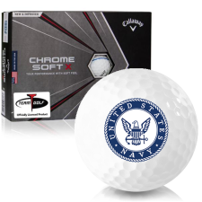 Callaway Golf Chrome Soft X Triple Track US Navy Golf Balls