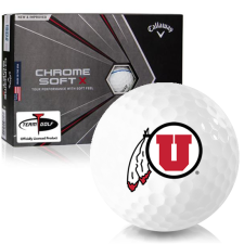 Callaway Golf Chrome Soft X Triple Track Utah Utes Golf Balls