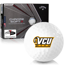 Callaway Golf Chrome Soft X Triple Track Virginia Commonwealth Rams Golf Balls