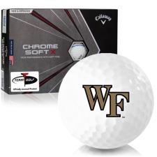 Callaway Golf Chrome Soft X Triple Track Wake Forest Demon Deacons Golf Balls