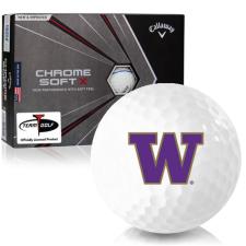 Callaway Golf Chrome Soft X Triple Track Washington Huskies Golf Balls
