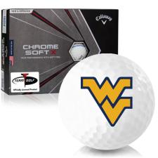Callaway Golf Chrome Soft X Triple Track West Virginia Mountaineers Golf Balls