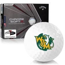 Callaway Golf Chrome Soft X Triple Track William & Mary Tribe Golf Balls