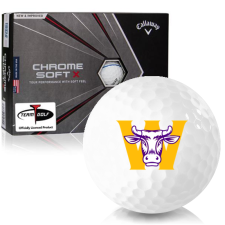 Callaway Golf Chrome Soft X Triple Track Williams College Ephs Golf Balls