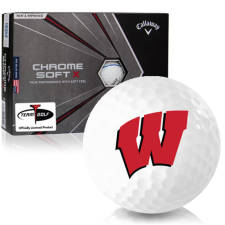 Callaway Golf Chrome Soft X Triple Track Wisconsin Badgers Golf Balls