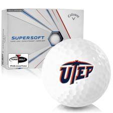Callaway Golf Supersoft Texas El Paso Miners Golf Balls