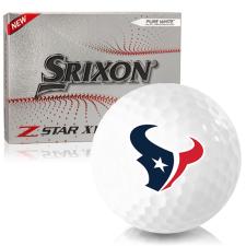 Srixon Z-Star XV 7 Houston Texans Golf Balls
