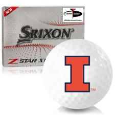 Srixon Z-Star XV 7 Illinois Fighting Illini Golf Balls
