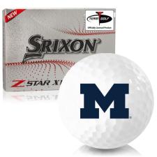 Srixon Z-Star XV 7 Michigan Wolverines Golf Balls