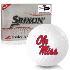 Srixon Z-Star XV 7 Ole Miss Rebels Golf Balls