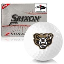 Srixon Z-Star XV 7 Oakland Golden Grizzlies Golf Balls