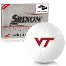 Srixon Z-Star XV 7 Virginia Tech Hokies Golf Balls