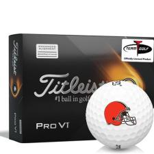 Titleist 2021 Pro V1 AIM Cleveland Browns Golf Balls