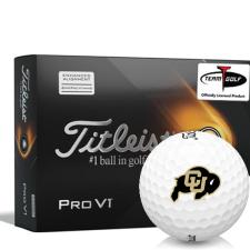 Titleist 2021 Pro V1 AIM Colorado Buffaloes Golf Balls