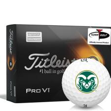 Titleist 2021 Pro V1 AIM Colorado State Rams Golf Balls