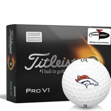 Titleist 2021 Pro V1 AIM Denver Broncos Golf Balls