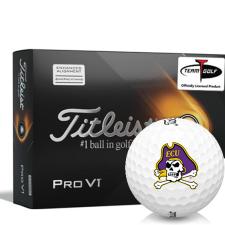 Titleist 2021 Pro V1 AIM East Carolina Pirates Golf Balls