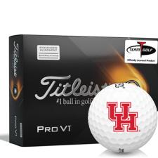 Titleist 2021 Pro V1 AIM Houston Cougars Golf Balls