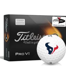 Titleist 2021 Pro V1 AIM Houston Texans Golf Balls