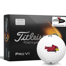 Titleist 2021 Pro V1 AIM Illinois State Redbirds Golf Balls