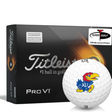Titleist 2021 Pro V1 AIM Kansas Jayhawks Golf Balls